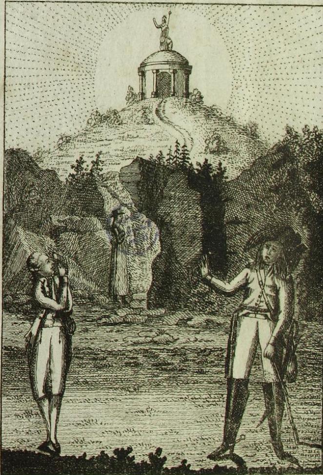 Titelkupfer_ Anonym_ Taschenbuch für Studierende (1797) _ Pfad zum Tempel der Musen